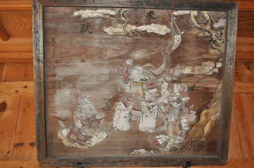 神武皇后と竹内宿祢の絵馬